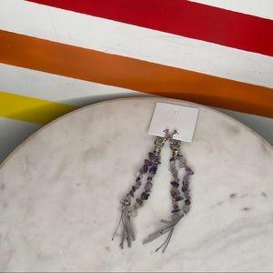 NEW Free People amethyst dangle earrings